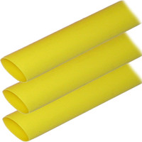 "Ancor Adhesive Lined Heat Shrink Tubing (ALT) - 1"" x 6"" - 3-Pack - Yellow"