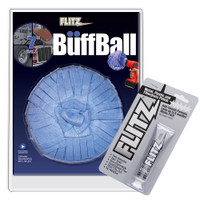 "Flitz Buff Ball - Extra Large 7"" - Blue w\/1.76oz Tube Flitz Polish"