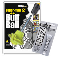 "Flitz Buff Ball - Super Mini 2"" - Yellow w\/1.76oz Tube Flitz Polish"