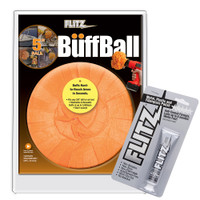 "Flitz Buff Ball - Large 5"" - Orange w\/1.76oz Tube Flitz Polish"