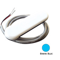Shadow-Caster Courtesy Light w\/2' Lead Wire - White ABS Cover - Bimini Blue - 4-Pack