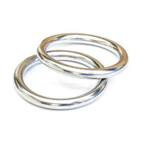 Tigress 316 Stainless Steel Rings - Pair