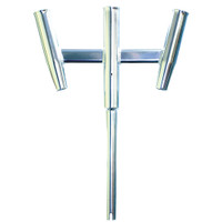 Tigress Triple Aluminum Kite Rod Holder - Straight Butt - Polished