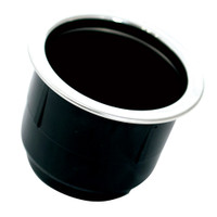 Tigress Black Plastic Cup Holder Insert w\/SS Ring On Top