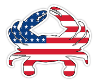 Shore Life Uncle Sam Crab Decal