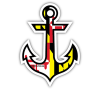 Shore Life Maryland Anchor Decal