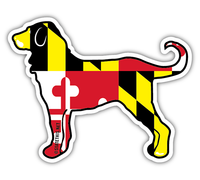 Shore Life Maryland Dog Decal