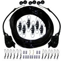 Rupp Rupp Triple Rigging Kit W\/Lok-Ups & Nok-Outs - 520' Black Mono Cord
