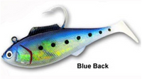 "Tsunami Holographic Heavy Swim Shad 6.5"" 2 pack Blue Back"