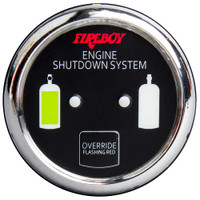 Xintex Deluxe Helm Display w\/Gauge Body, LED & Color Graphics f\/Engine Shutdown System - Chrome Bezel Display