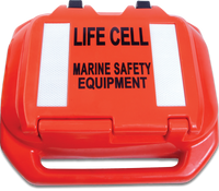 Life Cell Buoyant Flotation Device - The Trailer Boat - 2 to 4 Man - Orange