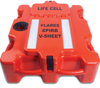 Life Cell Buoyant Flotation Device - The Crewman - 8 Man - Orange