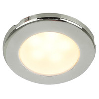 "Hella Marine EuroLED 75 3"" Round Screw Mount Down Light - Warm White LED - Stainless Steel Rim - 12V"