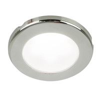"Hella Marine EuroLED 75 3"" Round Screw Mount Down Light - White LED - Stainless Steel Rim - 12V"