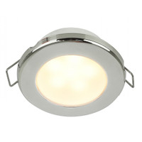 "Hella Marine EuroLED 75 3"" Round Spring Mount Down Light - Warm White LED - Stainless Steel Rim - 12V"