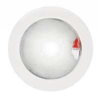 Hella Marine EuroLED 150 Recessed Surface Mount Touch Lamp - Red\/White LED - White Plastic Rim
