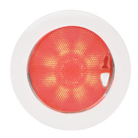 Hella Marine EuroLED 150 Recessed Surface Mount Touch Lamp - Red\/Warm White LED - White Plastic Rim