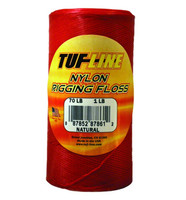 Tuf-Line Nylon Rigging Floss - Red 30Lb 1/4Lb Roll 640yds Shrink Wrapped (NOS30WRD640 )