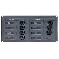 BEP AC Circuit Breaker Panel w\/o Meters, 4 Way Panel 2 Mains - 240V