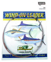 Diamond Monofilament Wind On Leader 200Lb 25' Smoke Blue