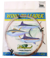 Diamond Monofilament Wind On Leader X-Hard 300Lb 25' Clear White
