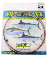 Diamond Monofilament Wind On Leader X-Hard 400Lb 25' Clear White