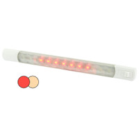 Hella MarineSurface Strip Light w\/Switch - Warm White\/Red LEDs - 12V