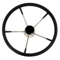"Whitecap Destroyer Steering Wheel - Black Foam, 15"" Diameter"
