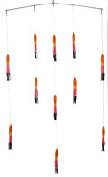 Squidnation Spreader Bar with 9 Inch Shell Squids - Rasta