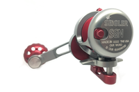 Seigler Reel SGN  Narrow Smoke w/ Red Accents RH