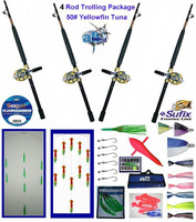 Alltackle Yellowfin Tuna 50# Trolling Package w/ 4 Rods/Reels