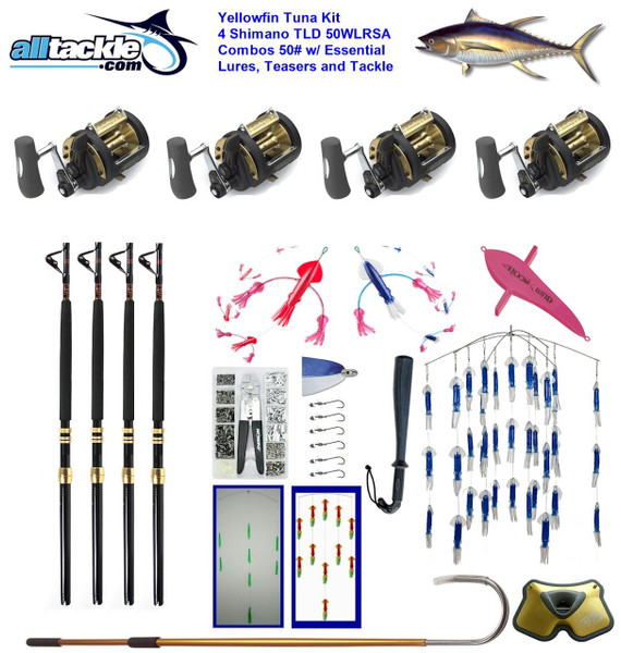 Alltackle Tuna Package - 4 x TLD 50 Combos w/ Essential Lures