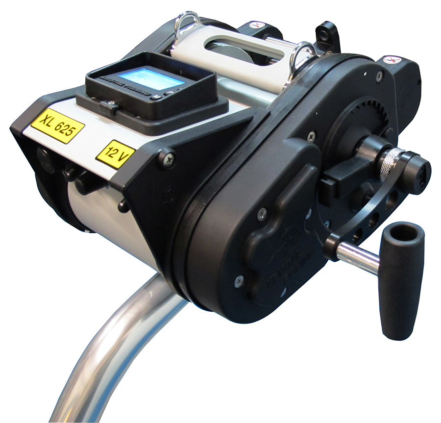 Kristal Electric Reel XL625-24V Programmable Manual Override Levelwind Wide