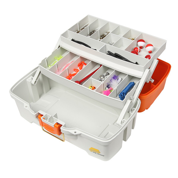 Plano Ready Set Fish Two-Tray Tackle Box - Orange\/Tan