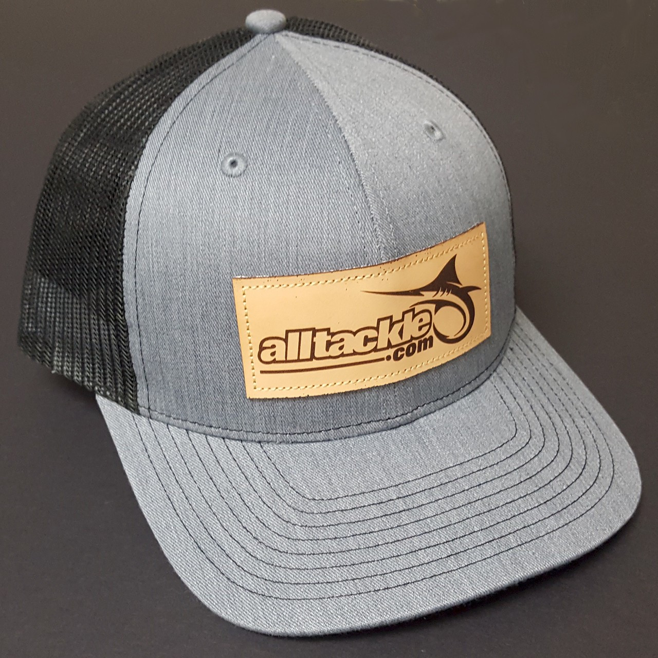 Alltackle Fishing Hat - Patch - Gray & Black