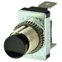 BEP Black SPST Momentary Contact Switch - OFF\/(ON)