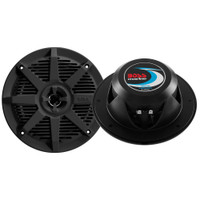 "Boss Audio MR52B 5.25"" 2-Way 150W Marine Full Range Speaker - Black - Pair"