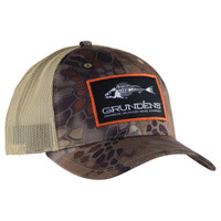 Grundens Trucker Cap Eat Fish Wear Grundens Kryptek Highlander Camo