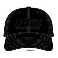 Pez Fishing Hat - 3D Logo - Black on Black
