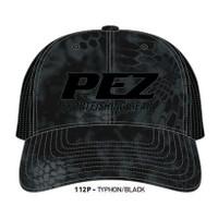 Pez Fishing Hat - 3D Logo -Kryptek Black 112P