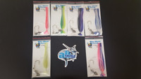 Blue Water Candy Ballyhoo Rig 6 Pack