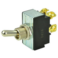 BEP DPST Chrome Plated Toggle Switch - OFF\/ON