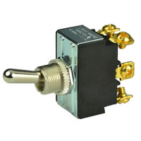 BEP DPDT Chrome Plated Toggle Switch - ON\/OFF\/ON