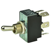 BEP DPDT Chrome Plated Toggle Switch - ON\/OFF\/(ON)