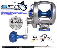 Seigler Combo - OS Reel Blue with Star Handcrafted Stand-Up Rod