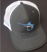 Alltackle Fishing Hat - Marlin Hook - Black/White
