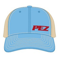 Pez Fishing Hat - Side Logo - Columbia Blue
