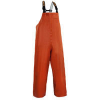 CLIPPER 116 BIB PANTS Product Description: A great all-around choice for professional fishermen, these medium weight PVC-coated polyester/cotton blend bibs are tailored for a trimmer, active fit and offer a higher cut for added chest protection. These bibs deliver both the 100% waterproof protection and rugged durability fishermen expect. Sturdy replaceable suspenders with quick-release clips make it easy to get Clipper bibs on and off. Designed to be reversible from front to back, for added convenience as well as extended service life.