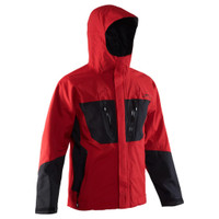 Grundens Burning Daylight Hooded Jacket - Red/Black