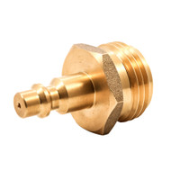 Camco Blow Out Plug - Brass - Quick-Connect Style